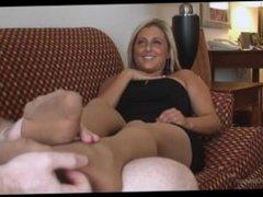 Tickling Kandi's Little Feet in Nylons