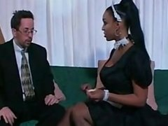 Busty maid obeys her master