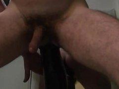 Huge dildo in my little ass