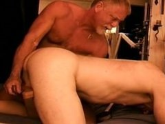 Young muscular newbie gets worked over in my CBT group session.