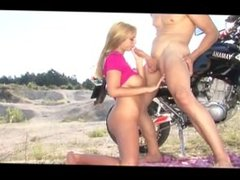 Dirt bike and a babe
