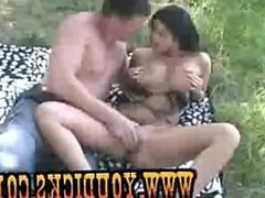Russian Couple have sex in the Woods/www.youdicks.com