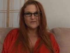 Frisky Redhead Rides Her Stepson's Hard Cock