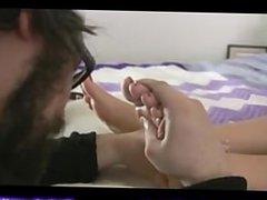 massaging her feet
