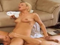 Michelle Sweet is a cute blonde, who's giving her boyfriend a blowjob while