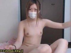 Asian camgirl masturbates with vibrator webcam chat