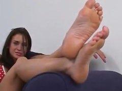 Bikini girl foot tease