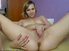 Beautiful Blonde Babe Masturbating