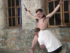 Gay twinks Sean McKenzie is strapped up and at the grace of sir Sebastian