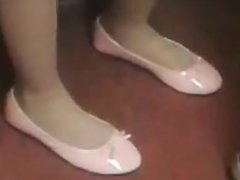 sexy flats and nylons