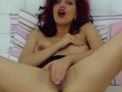 Wanna see me, frisky redhead lady Melissa, fingering my sweet pussy!