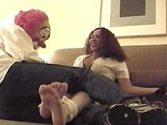 Jules Tickled By Clowny