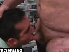 Amateur stud getting double teamed at the pawn shop