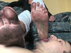 Polish mistress dirty feet cleaning