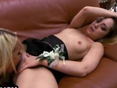 Step-mom and step-daughter Prom Night Threesome
