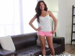 Casting Couch-X Latina club girl shows off on cam for $