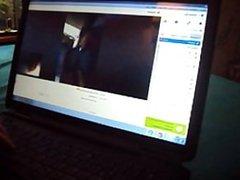 Simatra Live on Skype Handjob for my ass