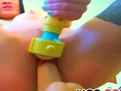 Close up pussy toying slut