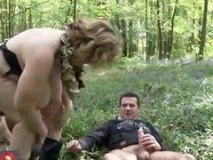 Sophia BBW sex in the woods