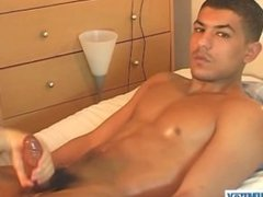 Real straight arab guy gets wanked his huge cock by a guy in spite of him!