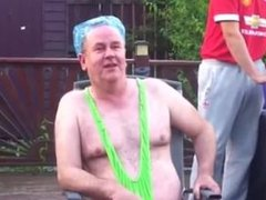 Ice challenge in a mankini (1)