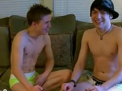 Twink sex Trace films the act as William and Damien hook up for the very