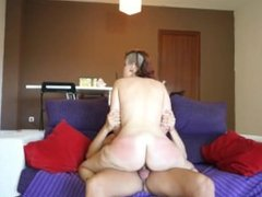 Spanish Teen on a Couch getting a fucking