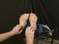 Tickling Her Ticklish Bare Feet
