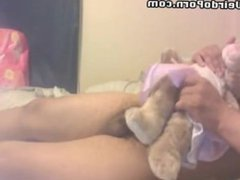 Weird guy fucking a rabbit toy