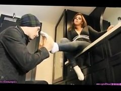 Stinky Sock Worshiping In Girl's Hotel Suite