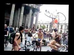 Naked Biking in Public