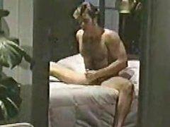 Jerry Butler 80's str8 porn star jacks off.
