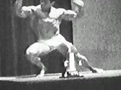 John Corvello, early Playgirl model in bodybuilding clip from the 60's