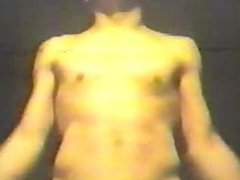 Unknown guy dancing nude, late 60's-ish