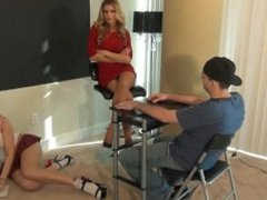 Teacher & Student Nylon Foot Smelling Handjob/Footjob