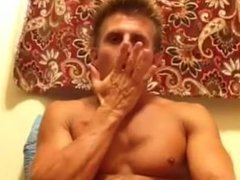 Muscle Hunk Cum Fountain
