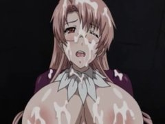 Tied up hentai babe gets double penetrated