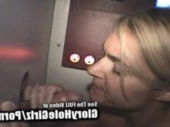 Happy Blonde Blowing Glory Hole Boners!