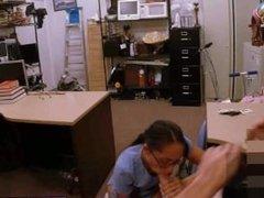 Fucking hot latina nurse at work