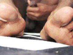 Black Man Feet & Masturbation