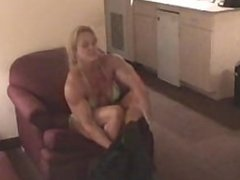 female muscle strong girls wrestling part1