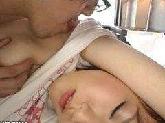 Sweet Japanese girl masturbating and fucking