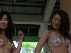 HOT Yamanaka Sisters Shiny Bikini Dance