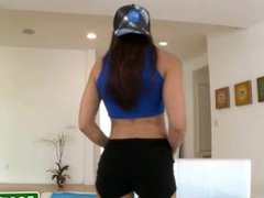 Fucking petite college teen brunette in the ass 18