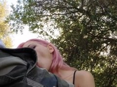 Kissa and Johnny SIns - Schoolgirl fuck outdoors in a park - Very HOT!!
