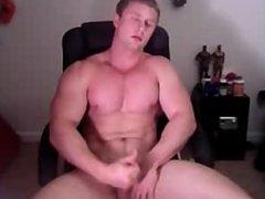 Muscle boy cums