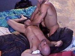 Israeli muscle stud punches his older muscle stud ub.