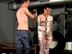 Gay clip of Cristian is nearly swinging, wrapped up in cable and chained