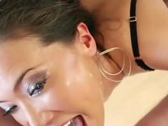 Swallow Guide Kalina Ryu savagely takes dick down her throat