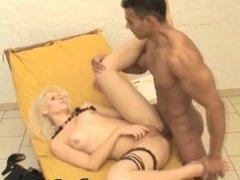 Blonde Shemale Butt Bareback